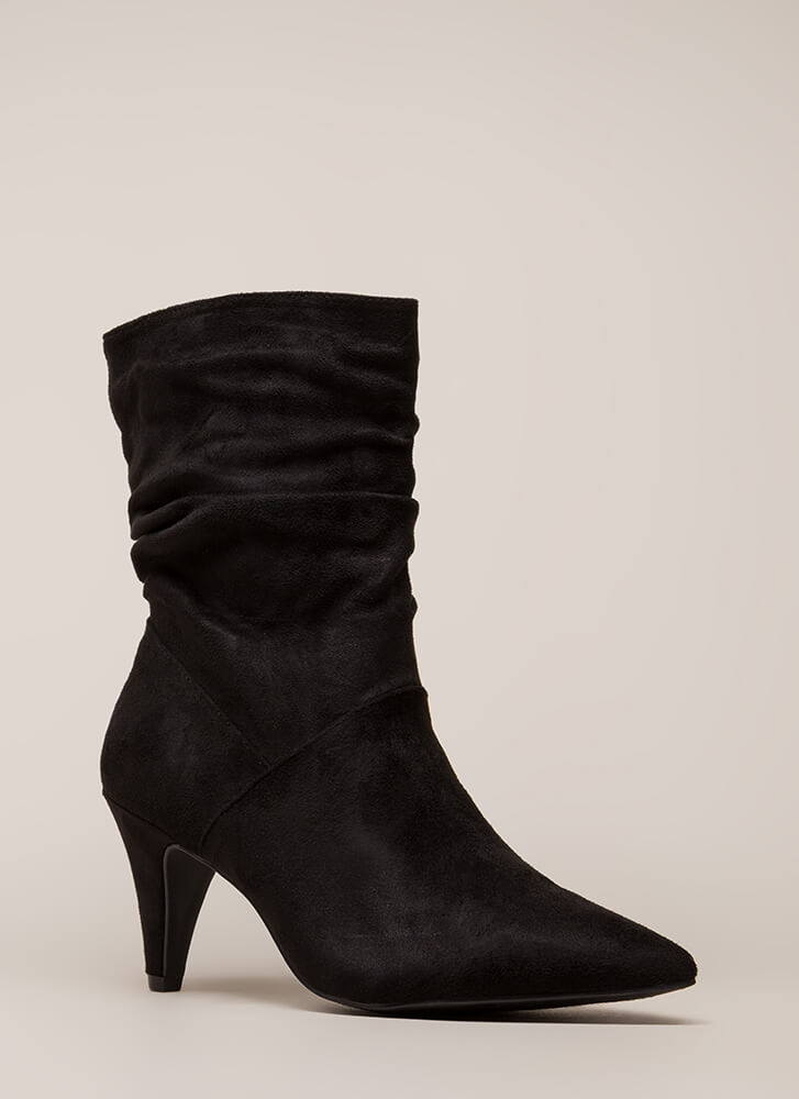 So Refreshing Short Slouchy Boots BLACK (You Saved $28)