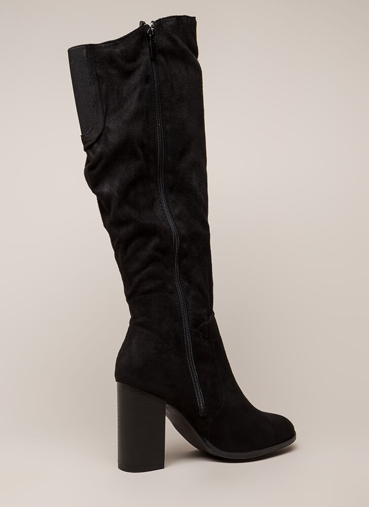 The Upside Chunky Knee-High Boots BLACK