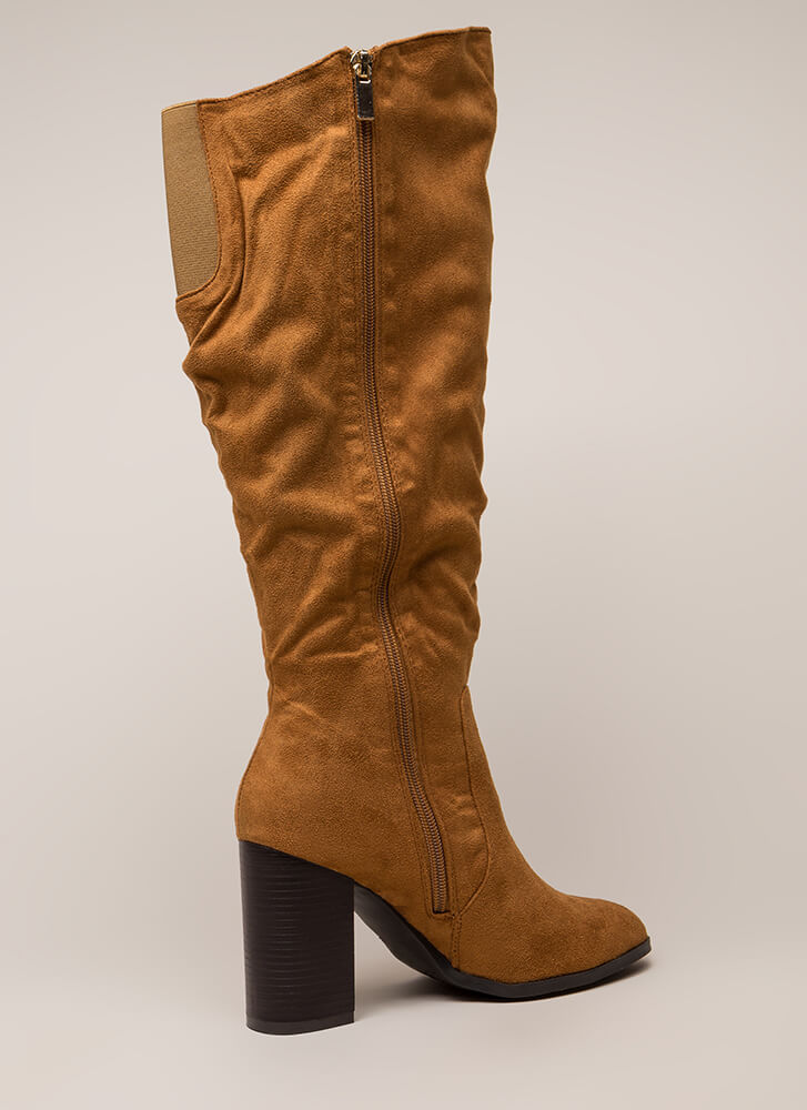 The Upside Chunky Knee-High Boots TAN