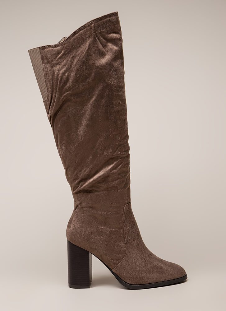 The Upside Chunky Knee-High Boots TAUPE