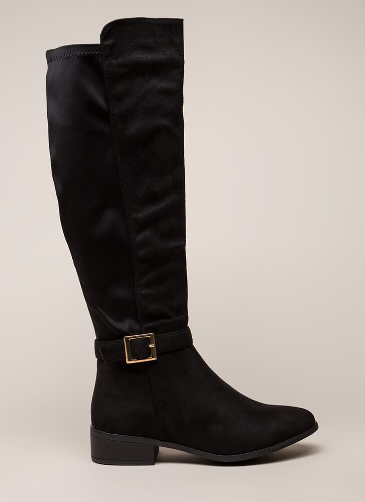 The Ultimate Faux Suede Riding Boots BLACK