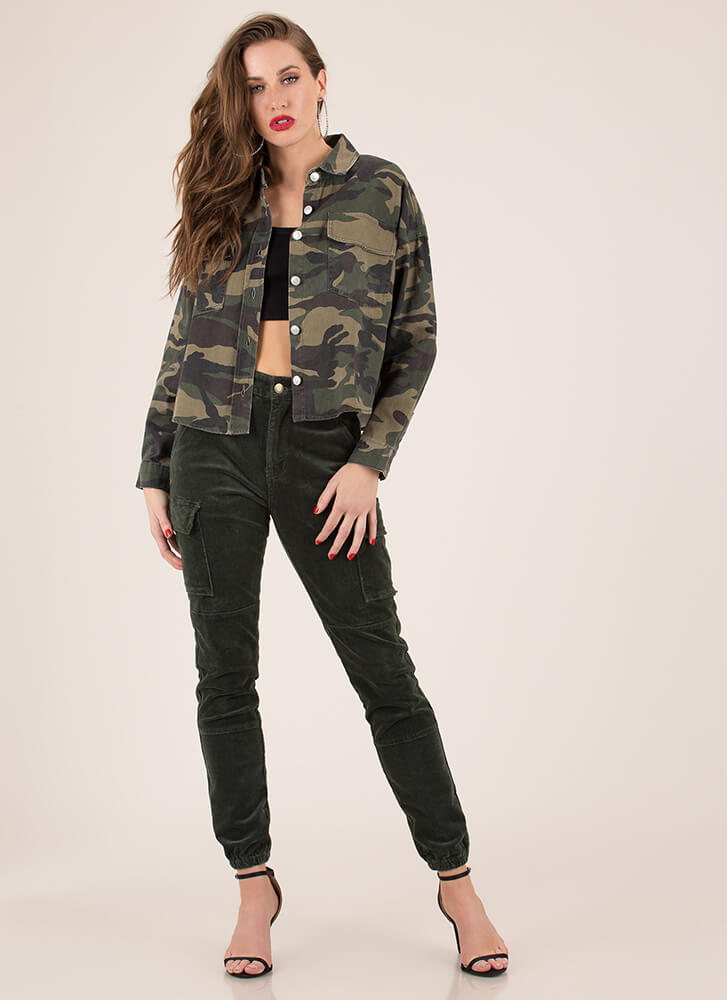 Cooler In Camo Button-Up Jean Jacket CAMO