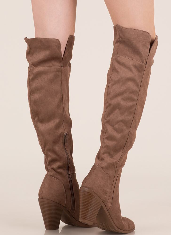 Over The Moon Over-The-Knee Chunky Boots NUTMEG