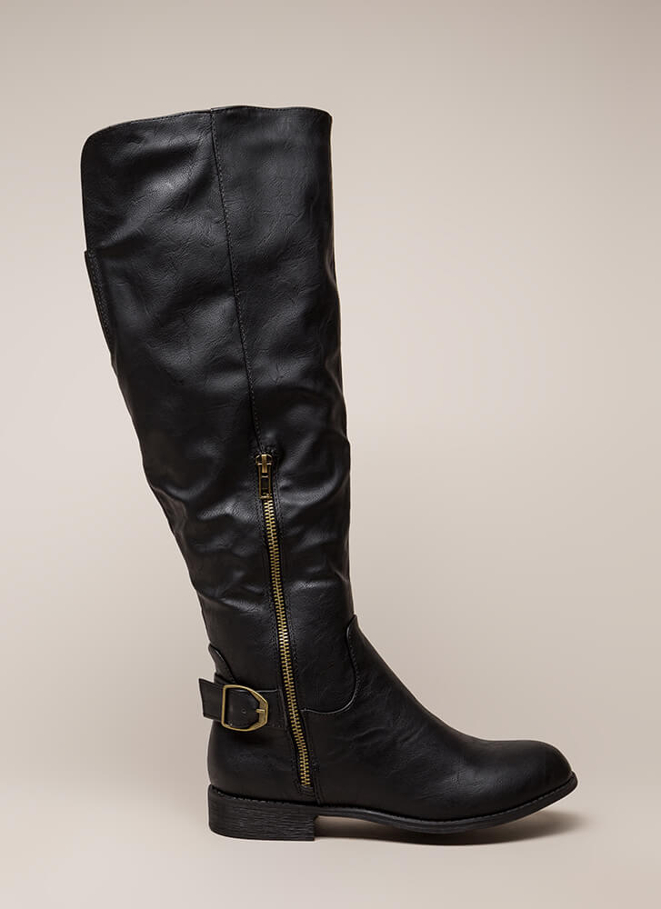 Save A Horse Knee-High Riding Boots BLACK