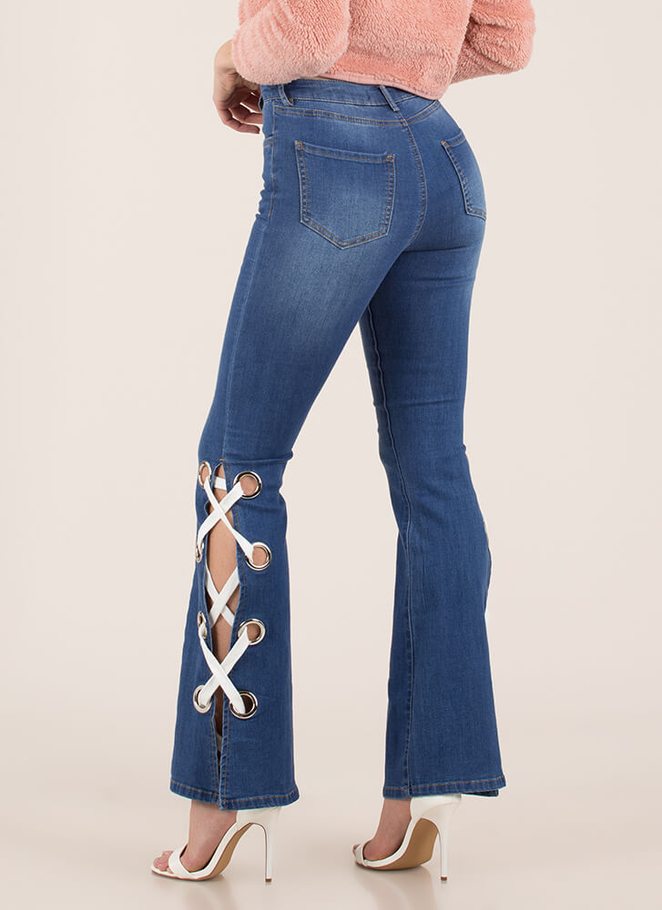 Laced The Test Bell-Bottom Jeans BLUE