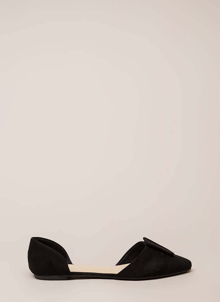 Like A Lady Buckled D'Orsay Flats BLACK
