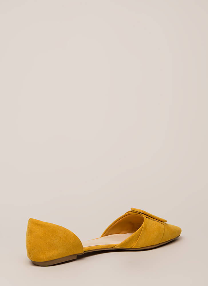 Like A Lady Buckled D'Orsay Flats MARIGOLD