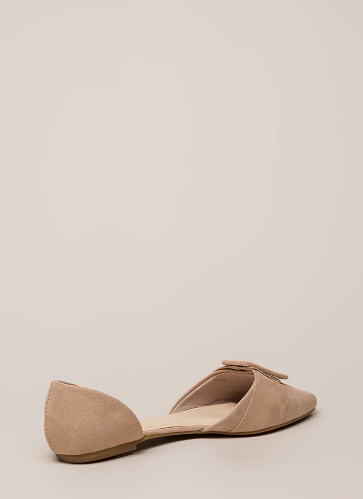 Like A Lady Buckled D'Orsay Flats NUDE