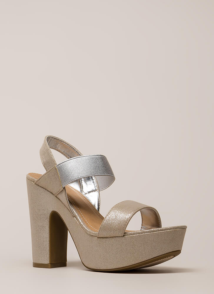Band Of Sisters Chunky Platforms SILVER (You Saved $19)