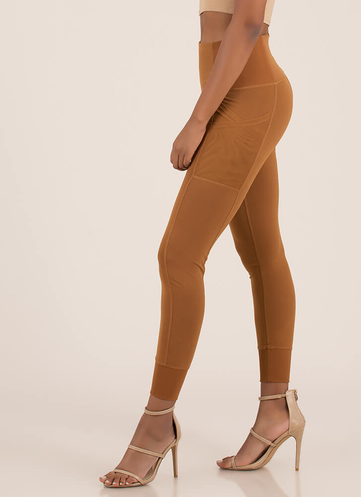 Sport These Paneled Jogger Leggings COCO