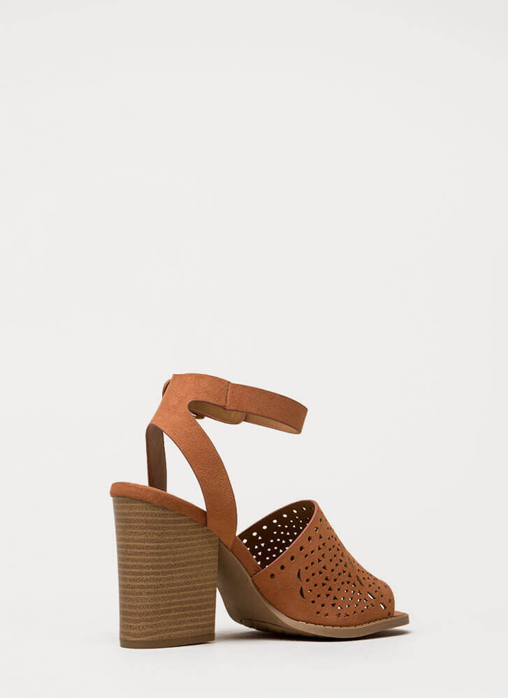 Walk In The Park Chunky Peep-Toe Heels HAZEL
