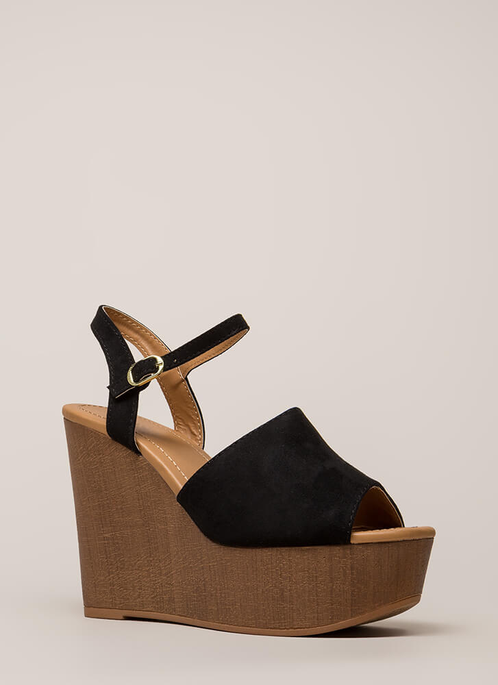 Higher Power Peep-Toe Platform Wedges BLACK CHESTNUT - GoJane.com c86321c1e707