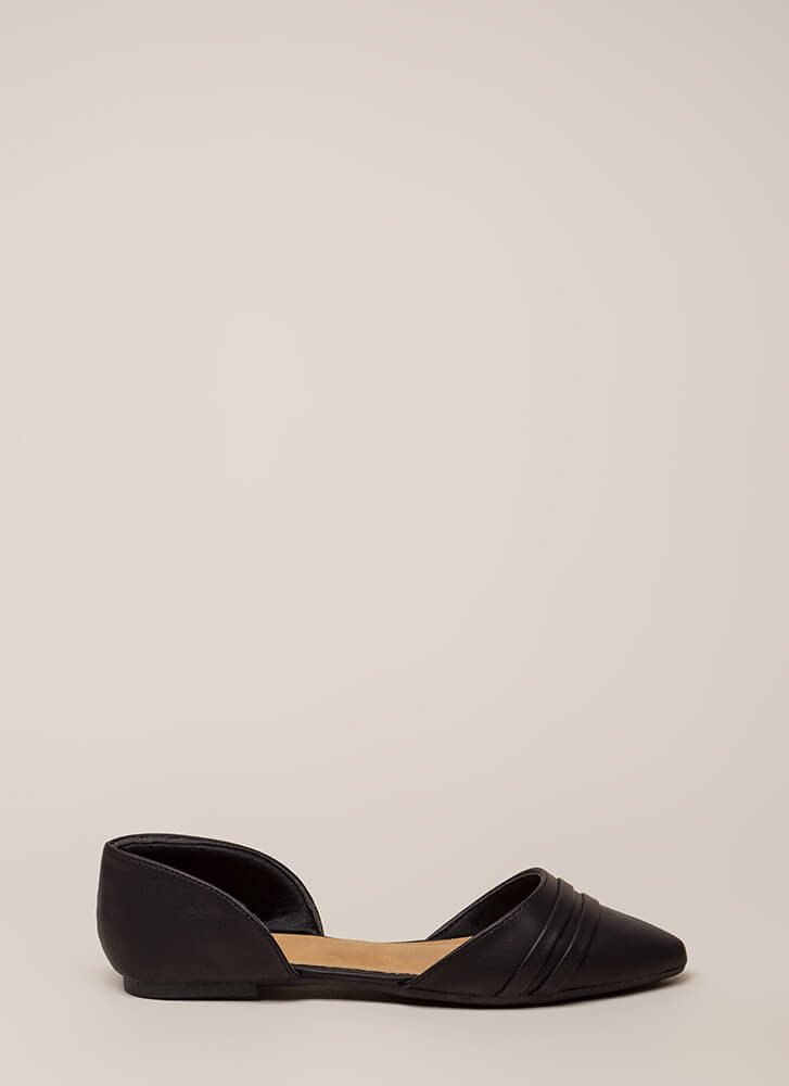 J'Adorable Strappy D'Orsay Flats BLACK