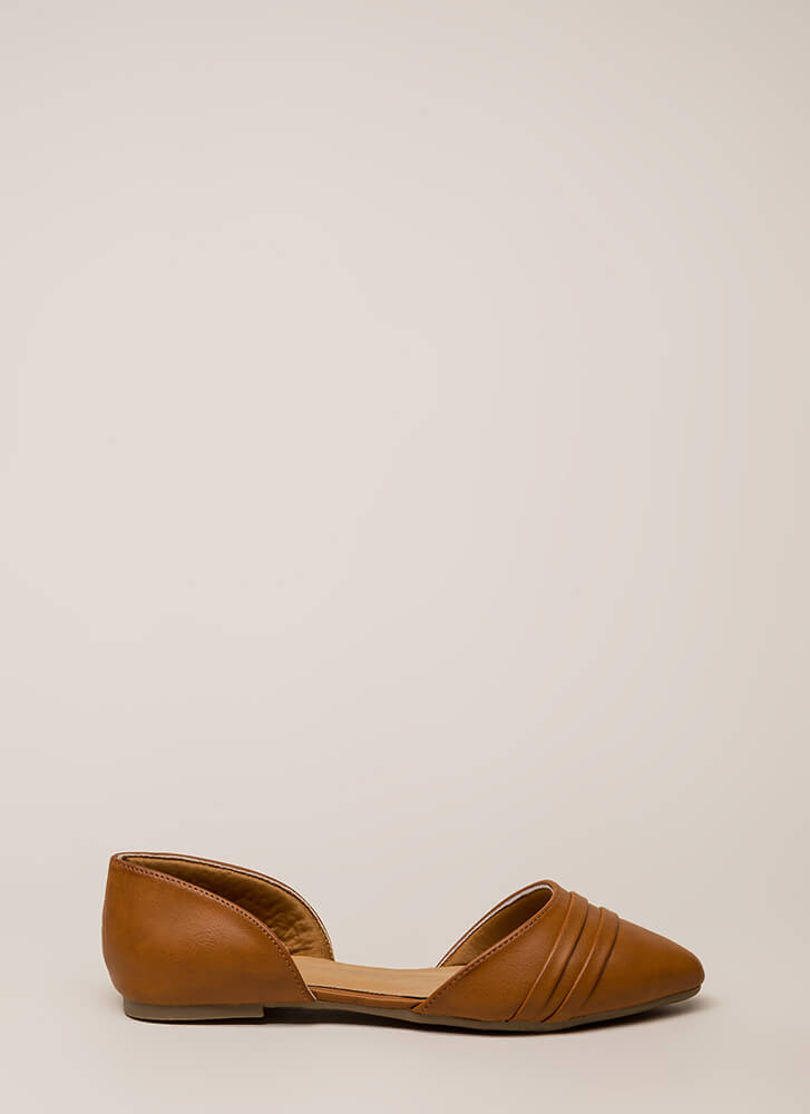 J'Adorable Strappy D'Orsay Flats CHESTNUT