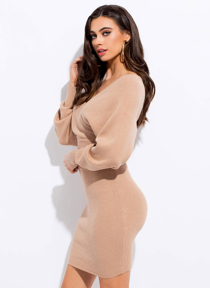The Knit Factor 2-Piece Sweater Dress LTMOCHA