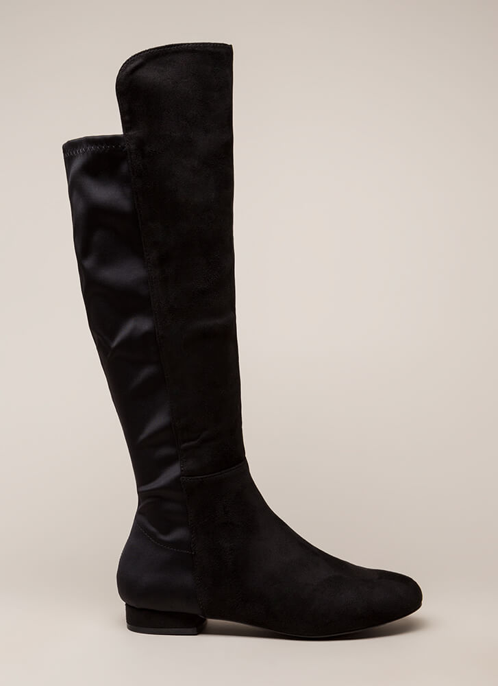 Going Going Gone Over-The-Knee Boots BLACK