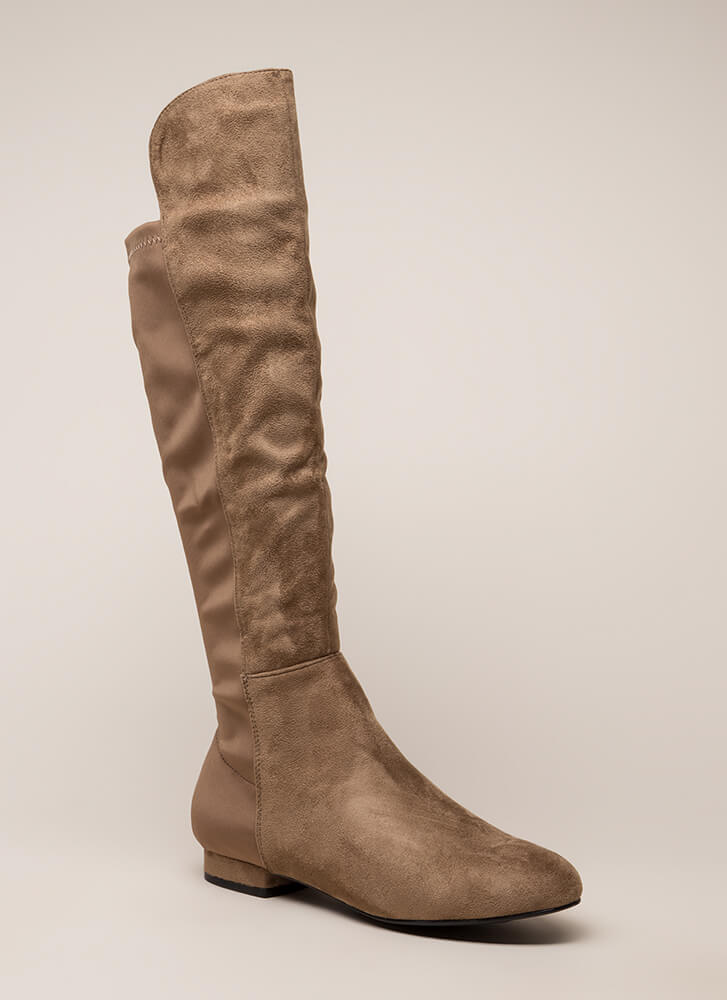 Going Going Gone Over-The-Knee Boots TAUPE