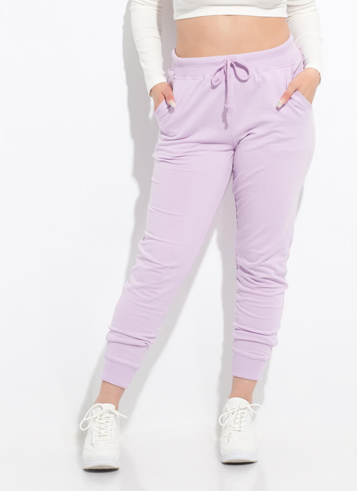 Taking It Easy Jogger Sweatpants ORCHID