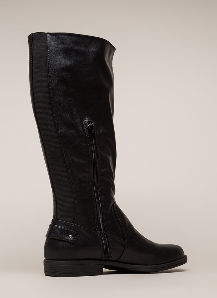 Horse Trainer Knee-High Riding Boots BLACK