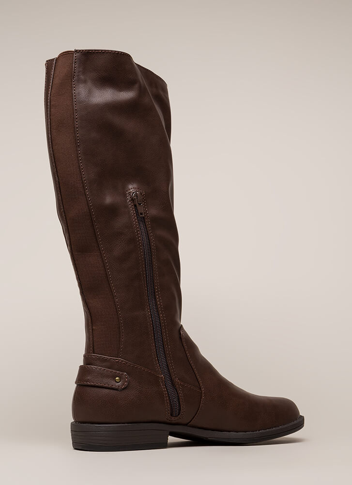 Horse Trainer Knee-High Riding Boots BROWN