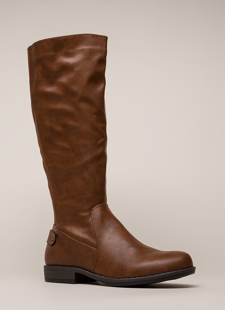 Horse Trainer Knee-High Riding Boots CHESTNUT