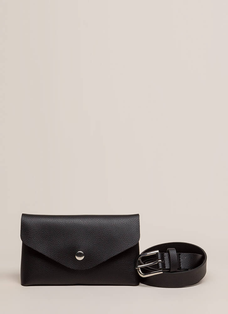 Take Me With You Belted Pouch BLACK
