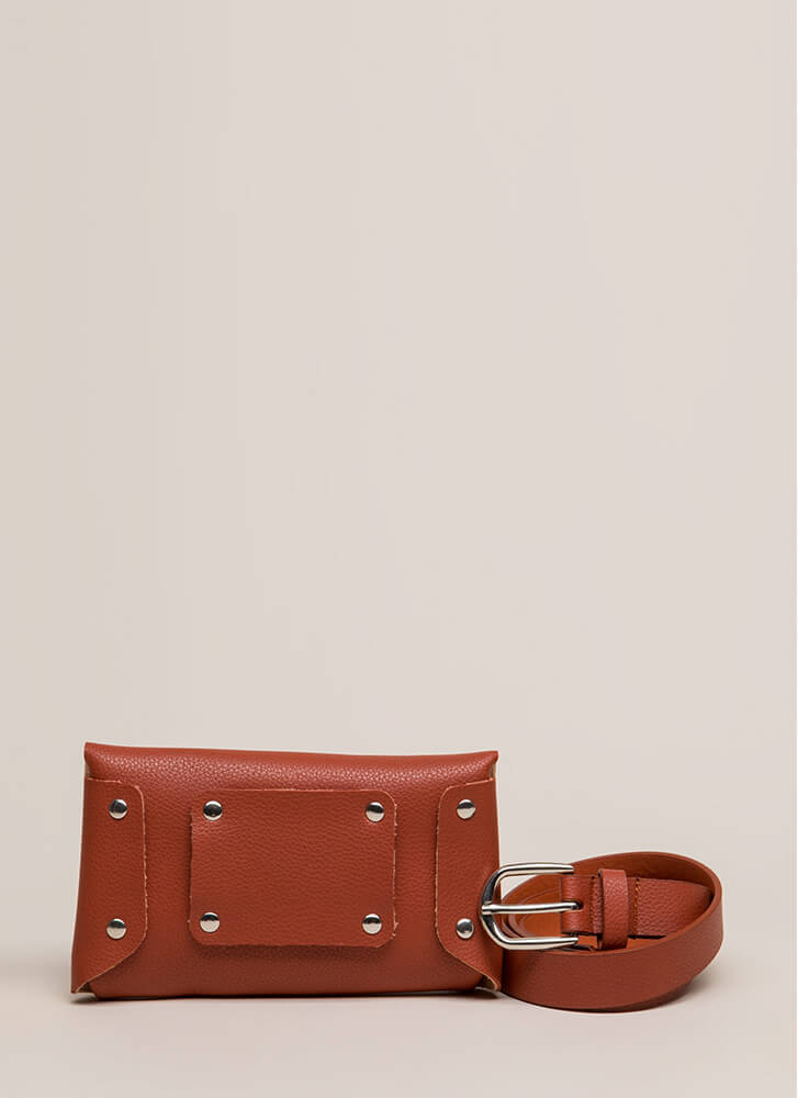 Take Me With You Belted Pouch BROWN