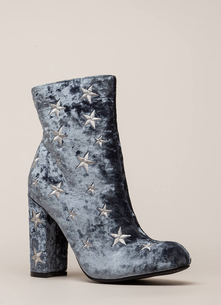 Reach For The Stars Chunky Booties GREY (You Saved $23)