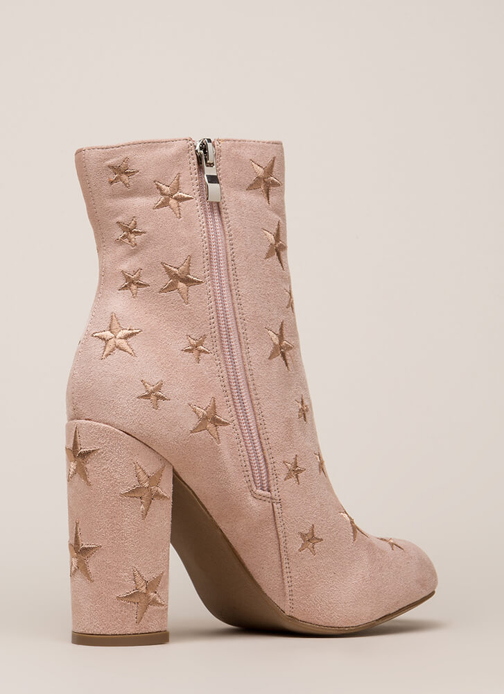 Reach For The Stars Chunky Booties NUDE (You Saved $23)