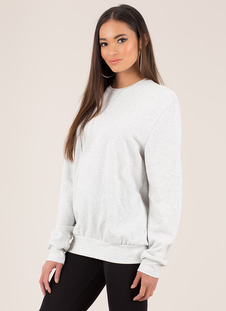 Ready Set Relax Oversized Sweatshirt HGREY