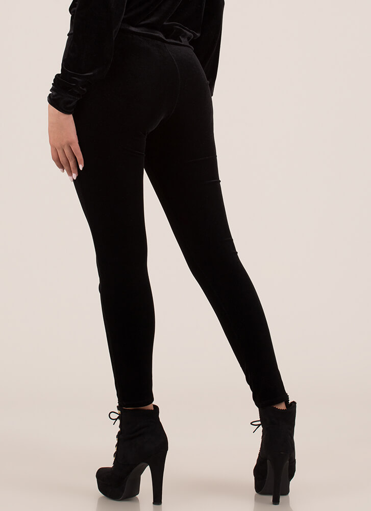 Velour Me In Velvet Track Pants BLACK