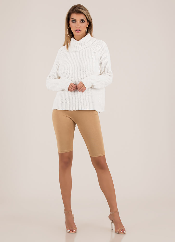 Softie Chenille Turtleneck Sweater OFFWHITE