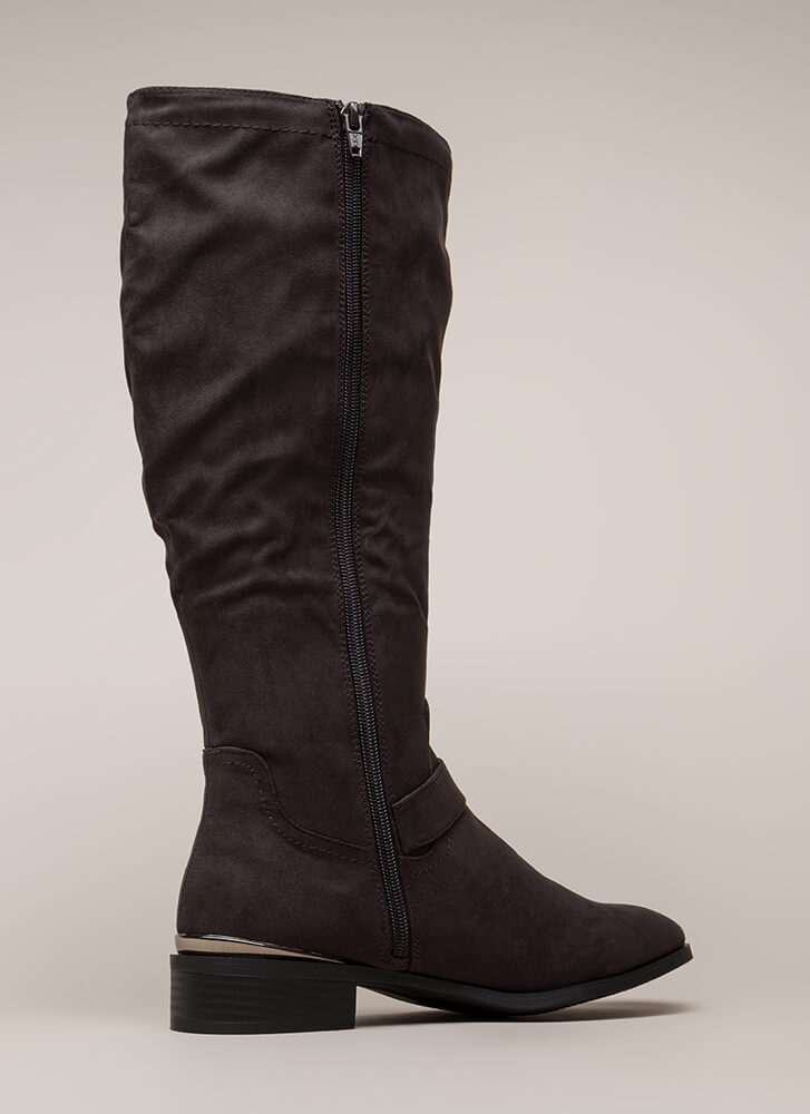 Trot Topic Knee-High Riding Boots GREY (You Saved $22)