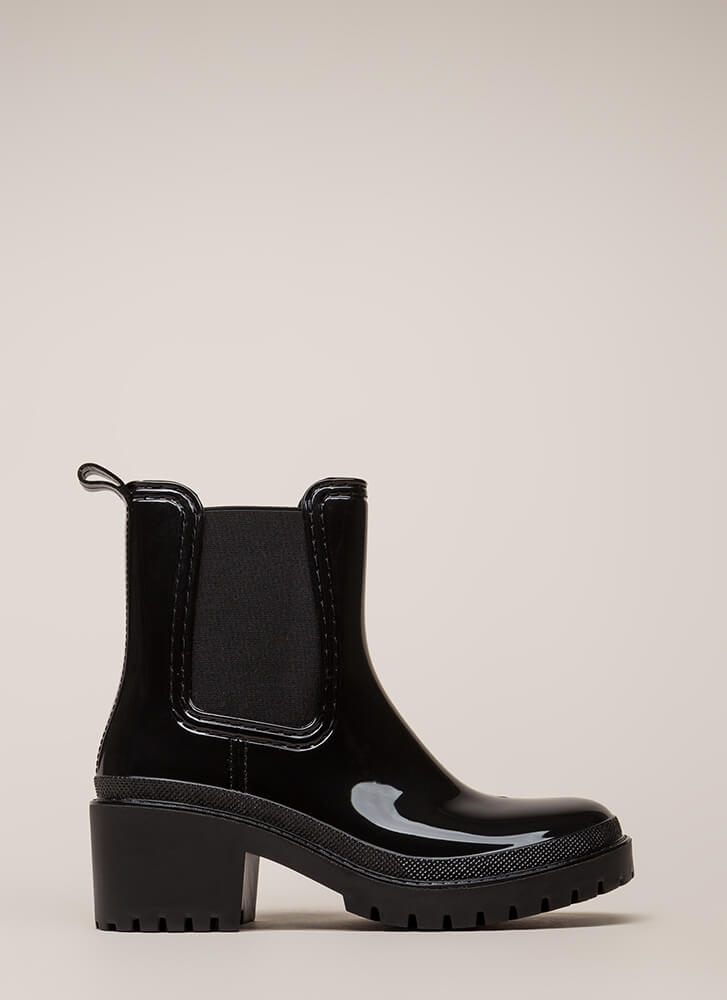Ready For This Jelly Block Heel Booties BLACK (You Saved $29)