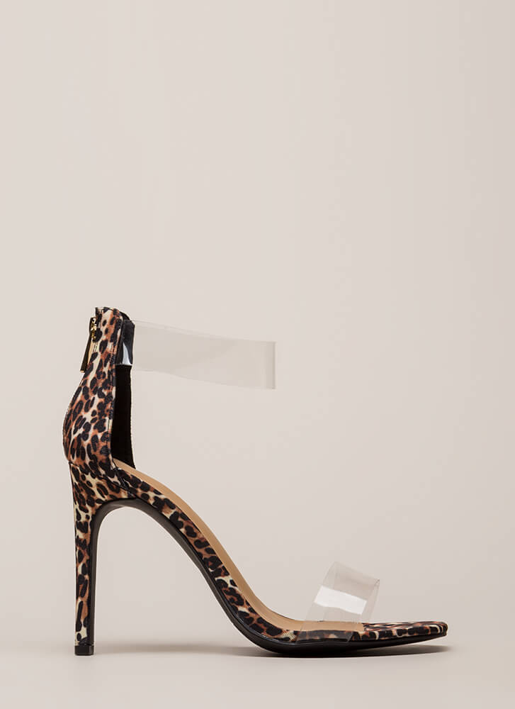 See Clearly Leopard Illusion Heels LEOPARD