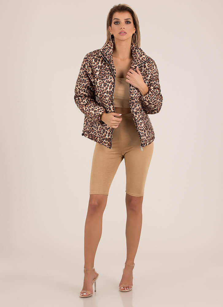 The Wild Child Puffy Leopard Jacket LEOPARD