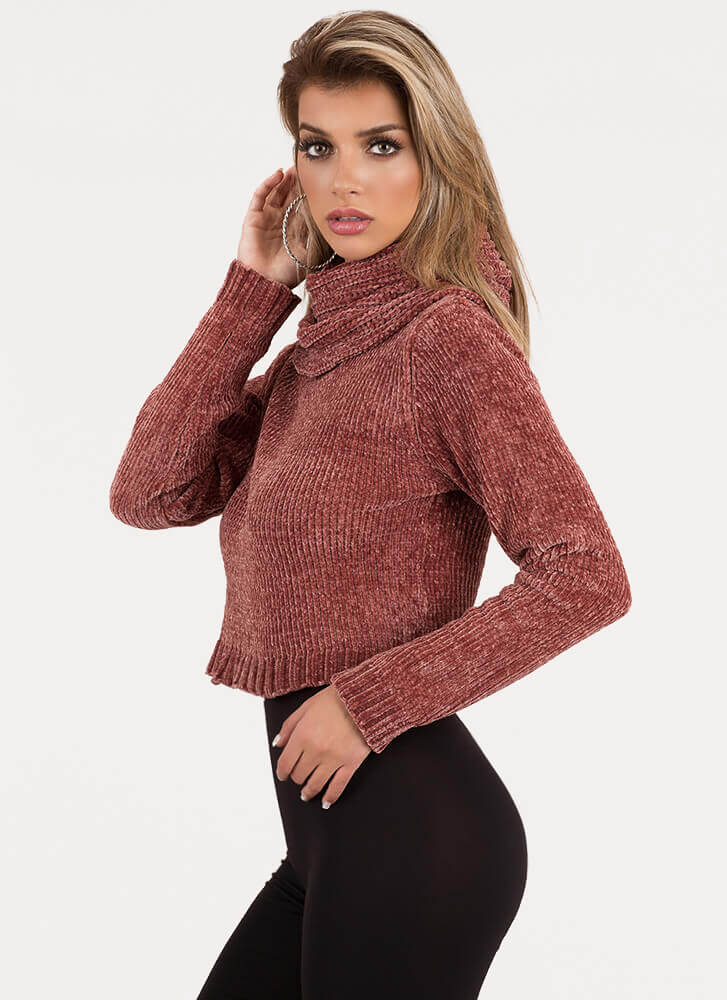 Scarf Collection Knit Cowl Sweater MAUVE (You Saved $22)