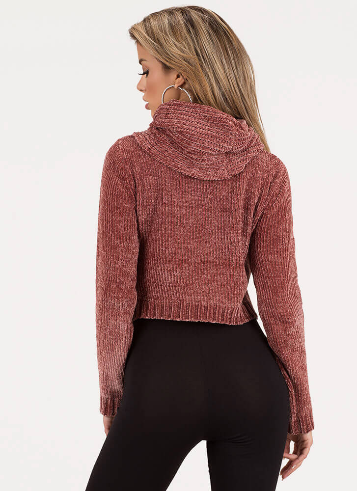 Scarf Collection Knit Cowl Sweater MAUVE