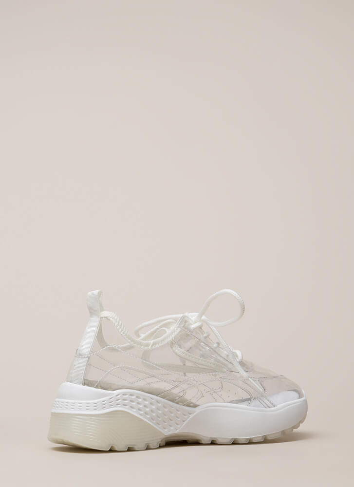 Clear Winner PVC Platform Sneakers CLEAR