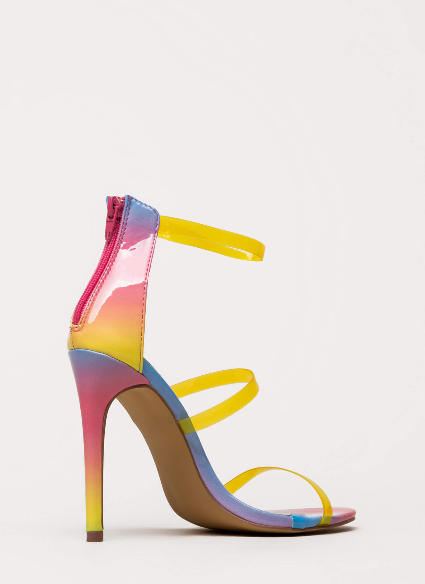 Clear As Day Strappy Stiletto Heels MULTI