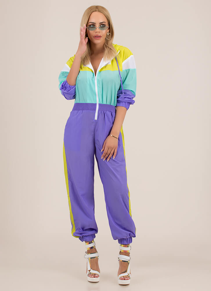 9c6435d92c4d Cool-Girl Windbreaker Jogger Jumpsuit PURPLE (Final Sale) ...