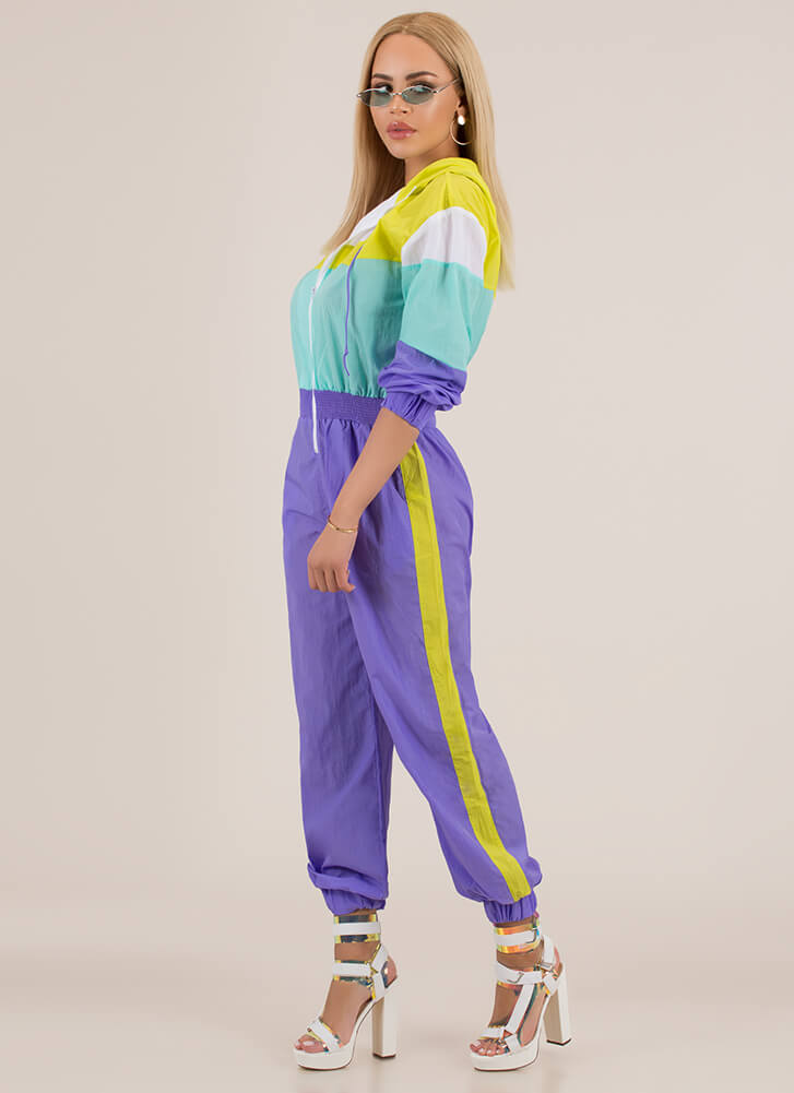 7a78f9e9a88b ... Cool-Girl Windbreaker Jogger Jumpsuit PURPLE (Final Sale) ...