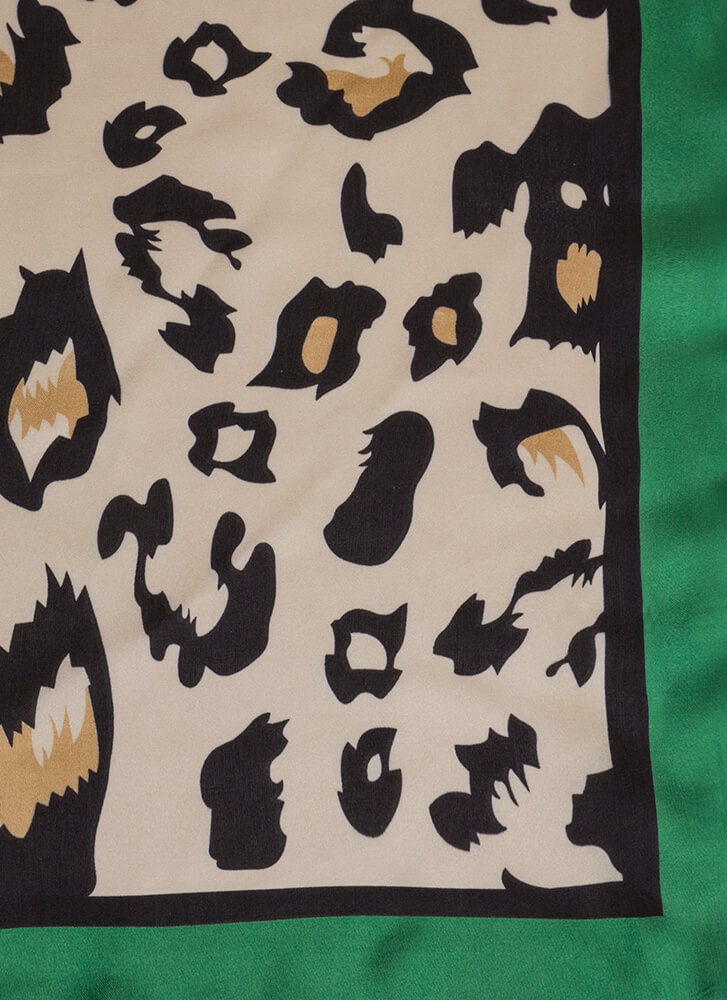 Perfect Spot Silky Leopard Scarf GREENMULTI (You Saved $5)