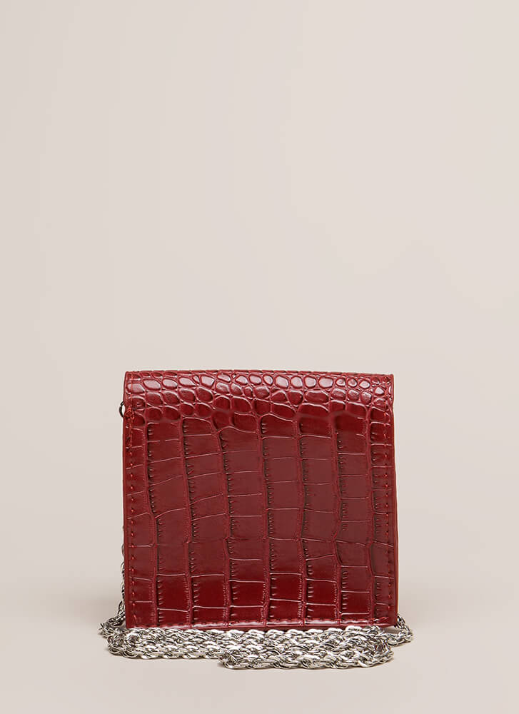 See Ya Later Alligator Square Clutch RED (You Saved $11)