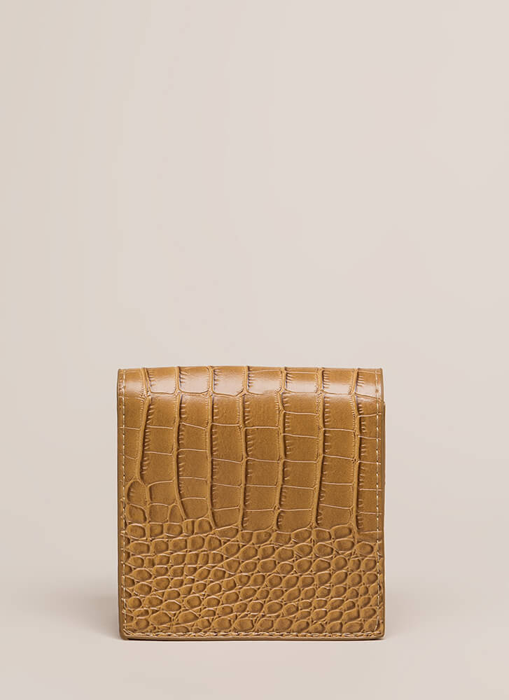 See Ya Later Alligator Square Clutch TAUPE (You Saved $11)