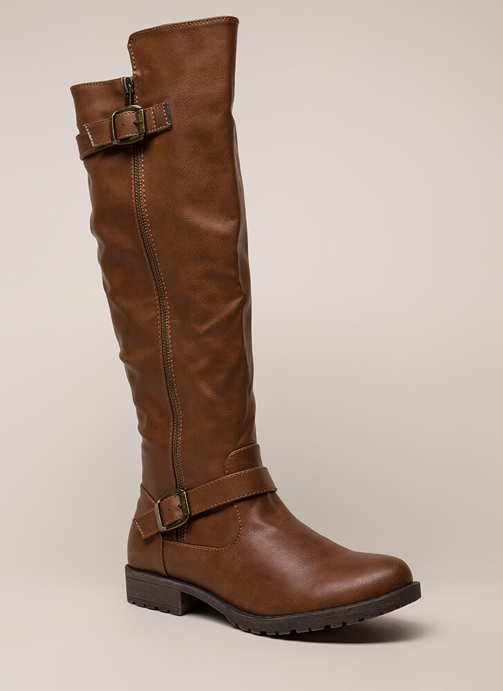 Say High Over-The-Knee Riding Boots CHESTNUT