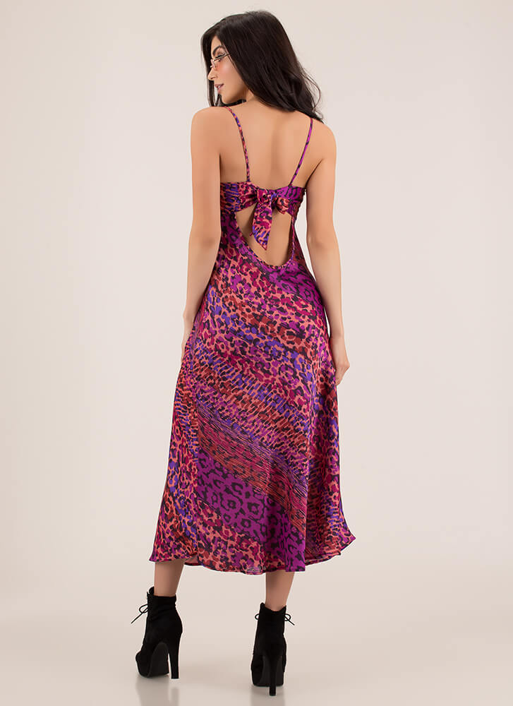 Wild Weekend Flowy Leopard Maxi PURPLEMULTI