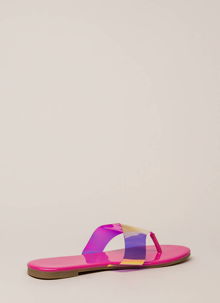 Not A Hologram Jelly Thong Sandals PINK