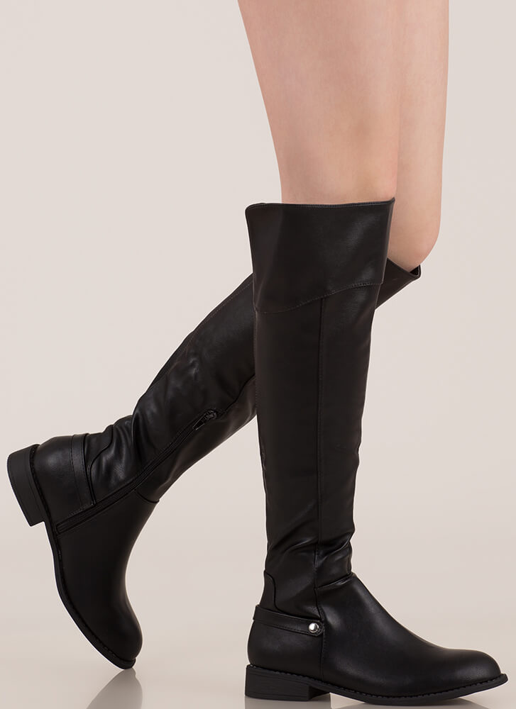 Horse Whisperer Knee-High Riding Boots BLACK