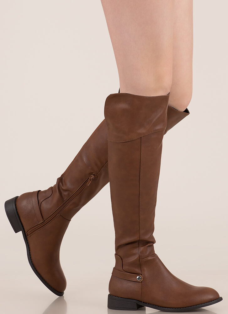 Horse Whisperer Knee-High Riding Boots WHISKY